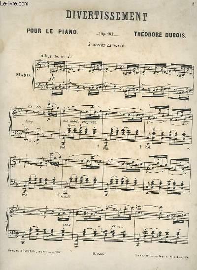 DIVERTISSEMENT POUR LE PIANO - OP.19.