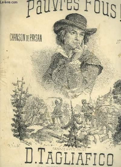 PAUVRES FOUS ! - CHANSON DE PAYSAN POUR PIANO ET CHANT.