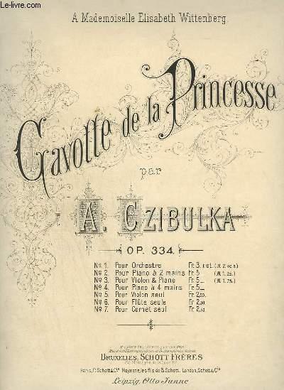 GAVOTTE DE LA PRINCESSE - POUR PIANO.