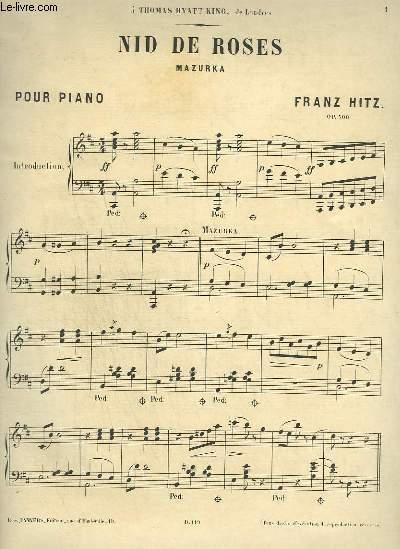 NID DE ROSES - MAZURKA POUR PIANO.