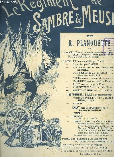LE REGIMENT DE SAMBRE & MEUSE - CHANT BARYTON + PIANO.