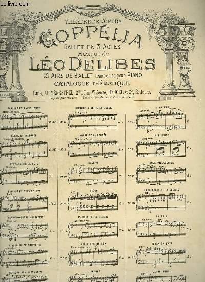 COPPELIA  N°9 : VALSE DE LA POUPEE POUR PIANO.