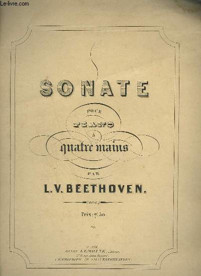 SONATE POUR PIANO A 4 MAINS - OP.6.