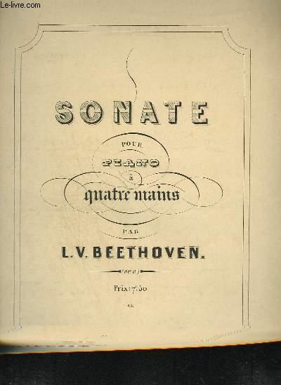 SONATE POUR PIANO A 4 MAINS - OP.6.