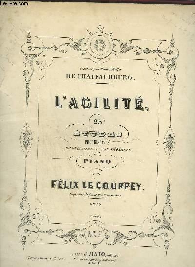 L'AGILITE, 25 ETUDES PROGRESSIVES DU MECANISME ET DE LEGERETE POUR PIANO.