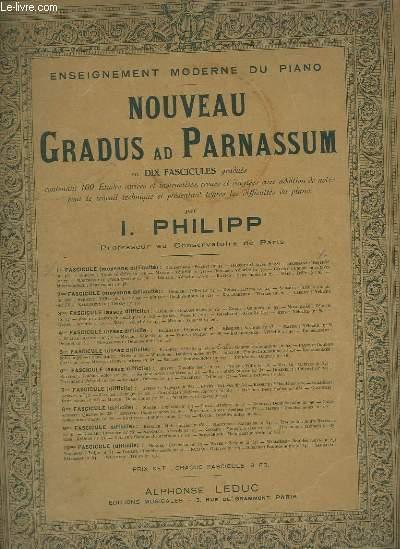 NOUVEAU GRADUS AD PARNASSUM - FASCICULE 5 : ASSEZ DIFFICILE.