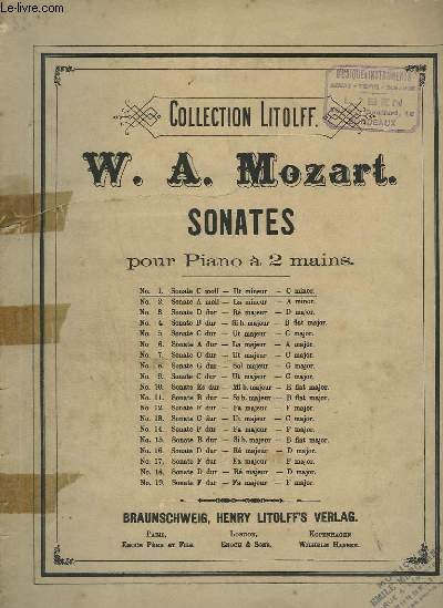 SONATE N°1 POUR PIANO A 2 MAINS.