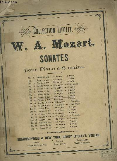 SONATE N°8 POUR PIANO A 2 MAINS.