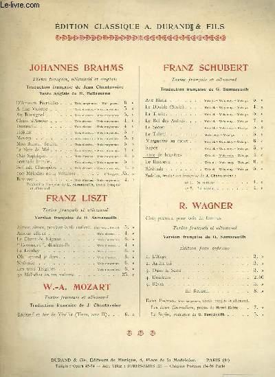 ROSE DES BRUYERES / HEIDENRÖSLEIN - PIANO ET CHANT EN FRANCAIS / ALLEMAND.