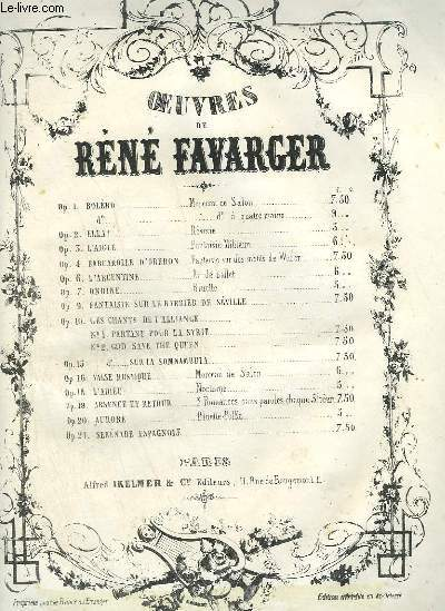 L'ARGENTINE - AIR DE BALLET POUR PIANO.
