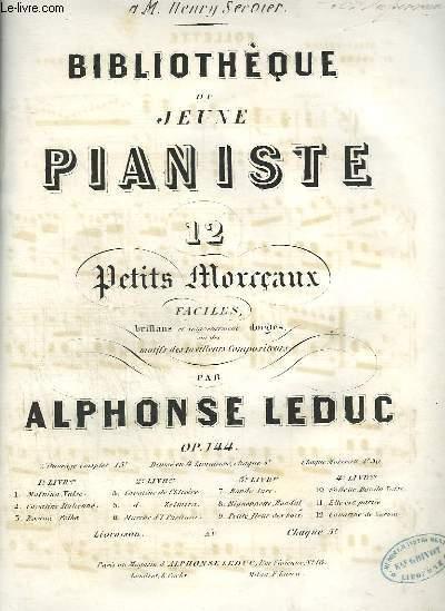 BIBLIOTHEQUE DU JEUNE PIANISTE - N°10 : FOLETTE - POUR PIANO.