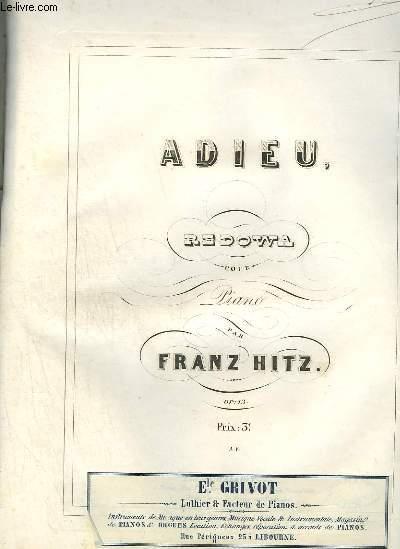 ADIEU - REDOWA POUR PIANO OP.13.
