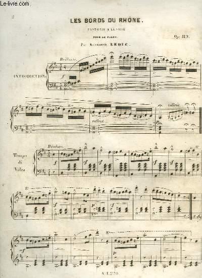 LES BORDS DU RHONE - FANTAISIE A LA VALSE POUR PIANO.
