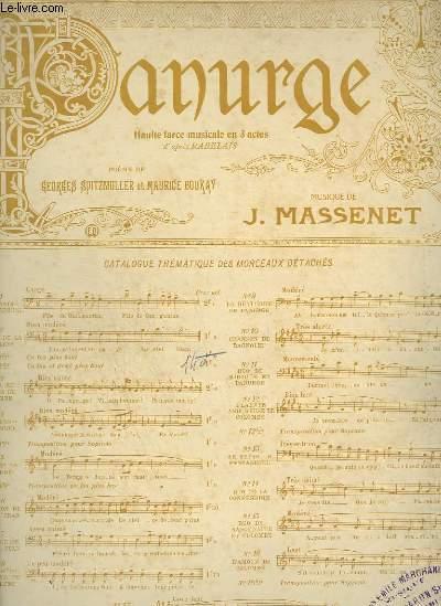 PANURGE - N°2 BIS : CHANSON DE LA TOURAINE - PIANO ET CHANT.