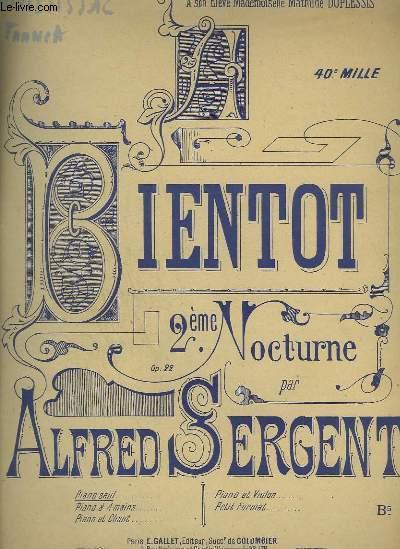 A BIENTOT - 2° NOCTURNE POUR PIANO.