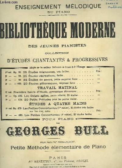 BILBIOTHEQUE MODERNE DES JEUNES PIANISTES - 20 ETUDES PITTORESQUES MOYENNE FORCE POUR PIANO - 4° VOLUME OP.100.