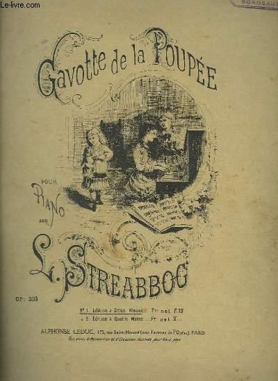 GAVOTTE DE LA POUPEE - POUR PIANO A 2 MAINS.
