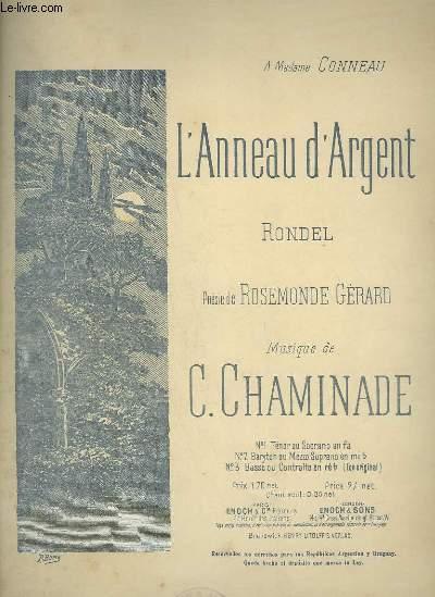 L'ANNEAU D'ARGENT N°3 - RONDEL POUR PIANO ET CHANT BASSE OU CONTRALTO.