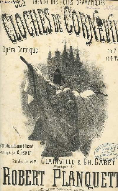 LES CLOCHES DE CORNEVILLE - OPERA COMIQUE POUR PIANO ET CHANT.