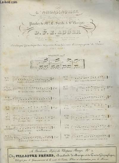 L'AMBASSADRICE - AIR POUR PIANO ET CHANT.