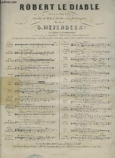 ROBERT LE DIABLE - OPERA EN 5 ACTES N°11 POUR PIANO ET CHANT.