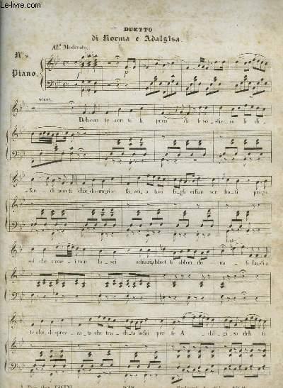 DUETTO DI NORMA ADALGISA - N°9 PIANO.
