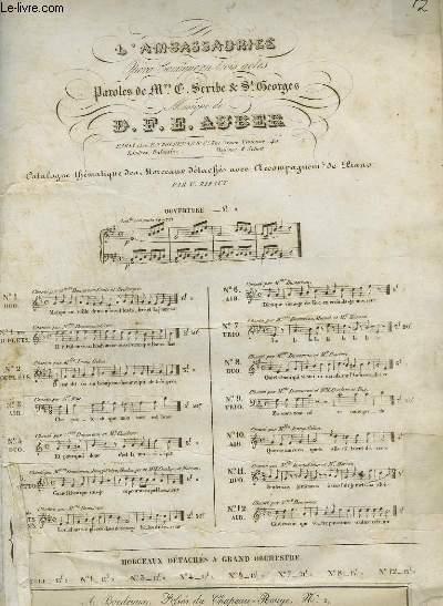 L'AMBASSADRICE N°5 BIS - AIR POUR PIANO ET CHANT.