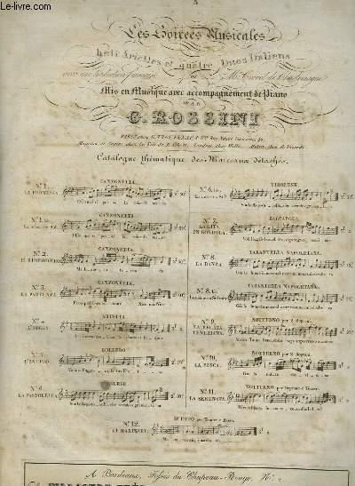 LES SOIREES MUSICALES - L'INVITO N°5 POUR PIANO ET CHANT.