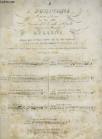 I PURITANI N°4 - PIANO ET CHANT.