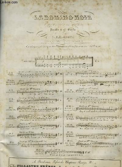 LE DOMINO NOIR N°2 - OPERA COMIQUE EN 3 ACTES POUR PIANO ET CHANT.