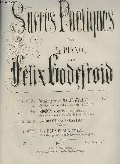 SUCCES POETIQUES POUR LE PIANO - N°2 : MIGNON REGRETTANT SA PATRIE.