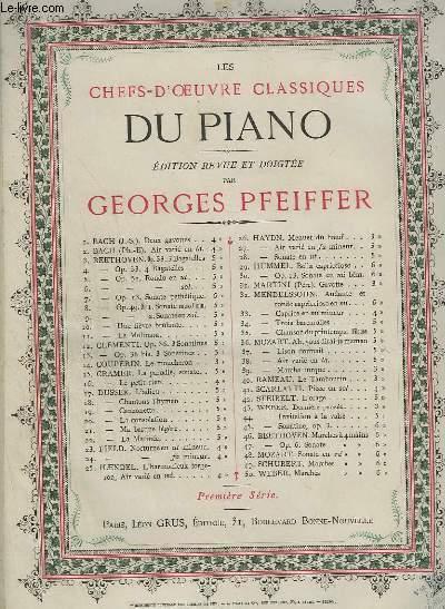 LES CHEFS D'OEUVRES CLASSIQUES DU PIANO - N°3 : 7 BAGATELLES 1° SERIE : 3 BAGATELLES.