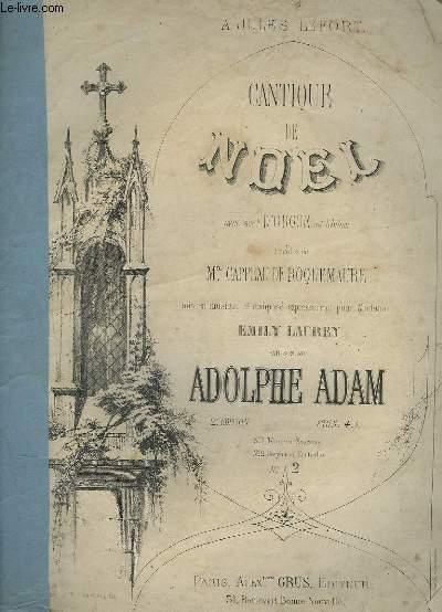 CANTIQUE DE NOEL - PIANO ET CHANT.