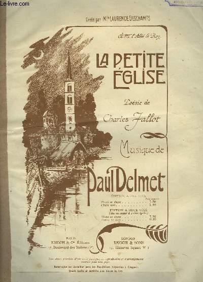LA PETITE EGLISE - PIANO ET CHANT.