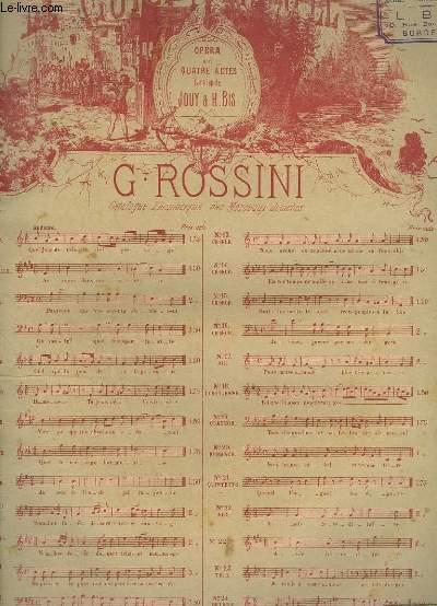 GUILLAUME TELL - N°10 : RECITATIF ET ROMANCE POUR PIANO.