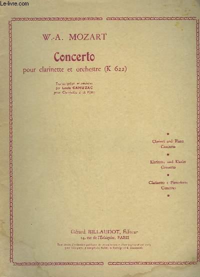 CONCERTO - CLARINETTE ET ORCHESTRE - K.622.