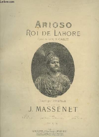 ARIOSO - ROI DE LAHORE - N°13 BIS : PIANO ET CHANT.