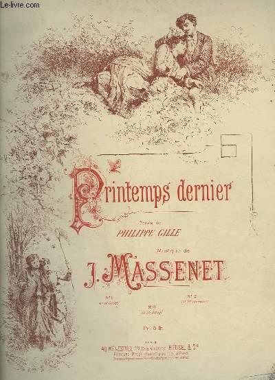 PRINTEMPS DERNIER - PIANO ET CHANT.
