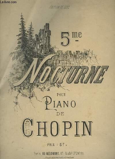 5° NOCTURNE POUR PIANO.