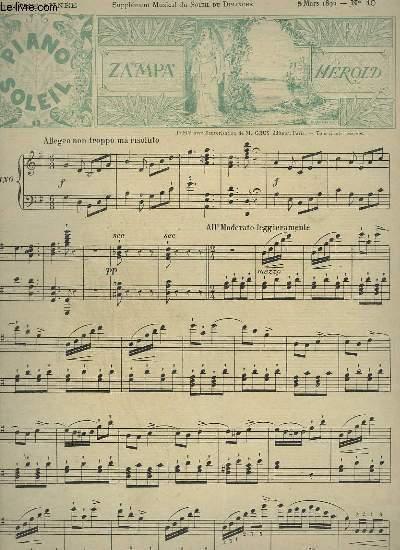 PIANO SOLEIL N°10 - 6° ANNEE : ZAMPA POUR PIANO.