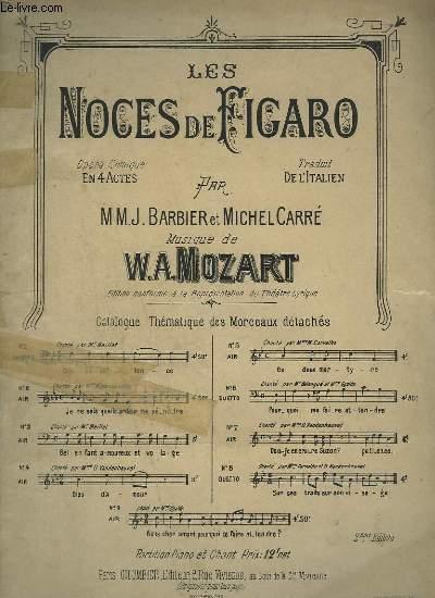 LES NOCES DE FIGARO - N°5 POUR PIANO ET CHANT.