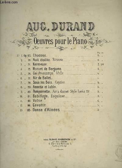 MENUET DE BERGAME - PIANO OP.76.