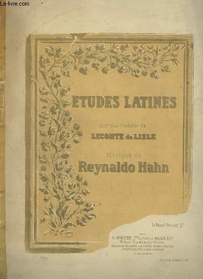ETUDES LATINES : LYDIE + NEERE + SALINUM + THALIARQUE + LYDE + VILE POTABIS + TYNDARIS + PHOLOE + A PHIDYLE + PHYLLIS.
