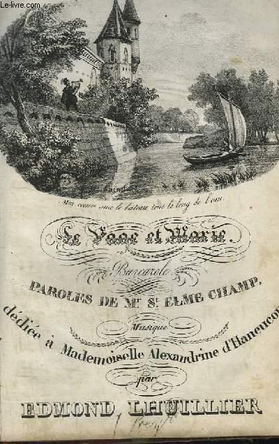 LE PAGE ET MARIE - BARCAROLLE POUR CHANT + GUITARE.