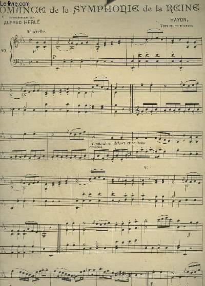ROMANCE DE LA SYMPHONIE DE LA REINE - POUR PIANO.