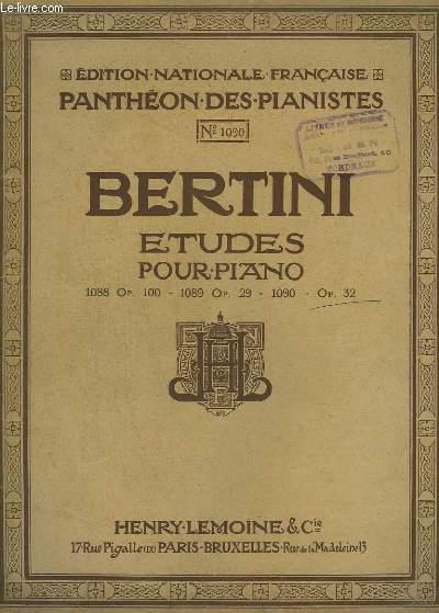 ETUDES POUR PIANO - OP.32.