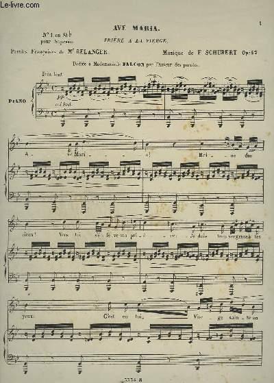 AVE MARIA - PRIERE A LA VIERGE - PIANO ET CHANT.