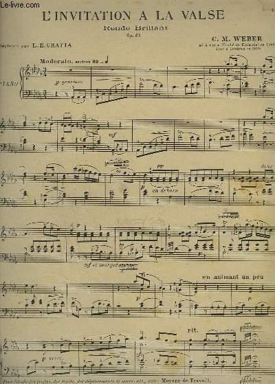 L'INVITATION A LA VALSE - RONDO BRILLANT POUR PIANO.