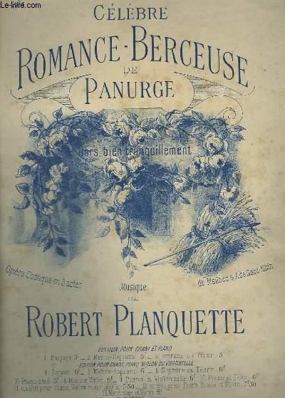 CELEBRE ROMANCE BERCEUSE DE PANURGE - N°1 : PIANO ET CHANT BARYTON.