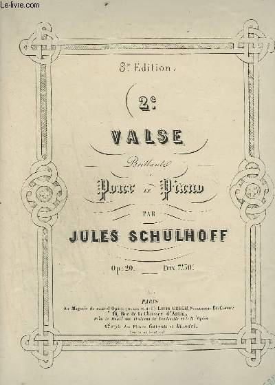 2° VALSE - BRILLANTE POUR LE PIANO.